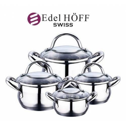 """8 dalių """"EDEL HOFF SWISS""""  puodų rinkinys"""