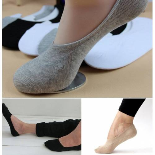 """Nematomos kojinės :Aura via"""" bambukinės kojinės su silikoniniais krašteliais (2 poros)"""