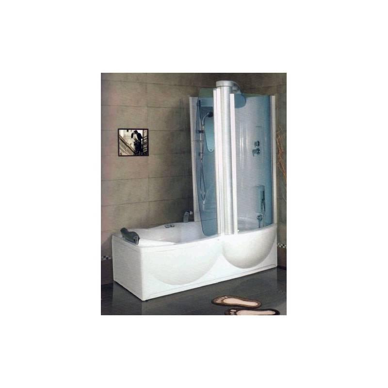 Akrilinė vonia MAL116 su dušo kabina dešininė