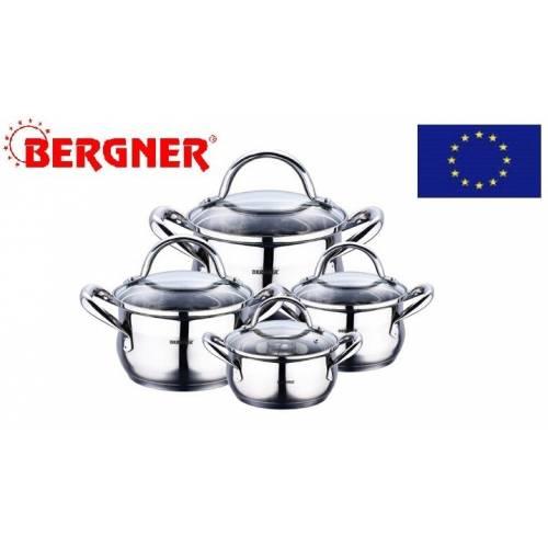 """Vokiškas """"BERGNER"""" 8 dalių puodų rinkinys"""