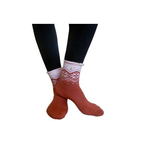 Aura via nespaudžiančiais krašteliai kojinių komplekta(2 poros)