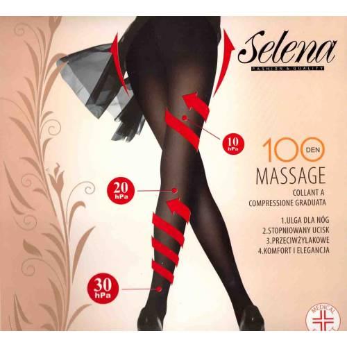 """Juodos kompresinės """"Selena"""" pėdkelnės 100 den."""